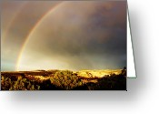 William And Magdalena Green Greeting Cards - Under the Rainbow Greeting Card by Magdalena Green