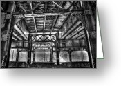 Dark Greeting Cards - Under the tracks Greeting Card by Scott Norris
