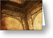 Scratch Greeting Cards - Under Tower Greeting Card by Andrew Paranavitana