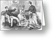 Undercover Greeting Cards - Undercover Police, 1870 Greeting Card by Granger