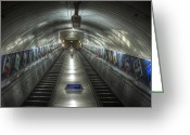 Staircase Greeting Cards - Underground 07 Greeting Card by Svetlana Sewell