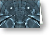 Staircase Greeting Cards - Underground 10 Greeting Card by Svetlana Sewell