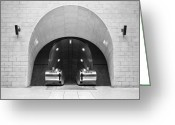 Staircase Greeting Cards - Underground Arch Way Greeting Card by Svetlana Sewell