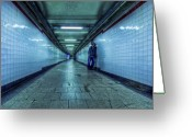 Metro Greeting Cards - Underground Inhabitants Greeting Card by Evelina Kremsdorf