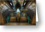 Capital Mixed Media Greeting Cards - Underground Ship Greeting Card by Svetlana Sewell