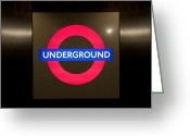 Staircase Greeting Cards - Underground sign Greeting Card by Svetlana Sewell