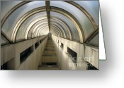 Concrete Greeting Cards - Underground Vault Greeting Card by Yali Shi
