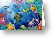 Reef Fish Greeting Cards - Undersea Garden Greeting Card by Gale Cochran-Smith