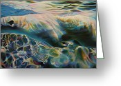 Bears Painting Greeting Cards - Underwater Rainbows Greeting Card by Kelly McNeil