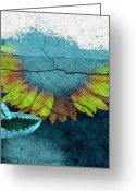 Abstract Greeting Cards Framed Prints Greeting Cards - Underwater Sun Greeting Card by Jerry Cordeiro