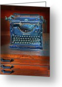 Typewriter Keys Photo Greeting Cards - Underwood Typewriter Greeting Card by Dave Mills