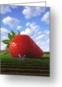 Farm Painting Greeting Cards - Unexpected Growth Greeting Card by Jerry LoFaro