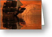 3d Greeting Cards - Unexplored waters Greeting Card by Claude McCoy