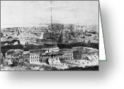 Cities Greeting Cards - UNFINISHED CAPITOL, 1850s Greeting Card by Granger