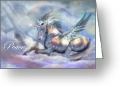 Unicorn Art Greeting Cards - Unicorn Of Peace Card Greeting Card by Carol Cavalaris