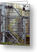 Industrial Plant Photo Greeting Cards - Unilever Industrial Plant, Uk Greeting Card by Mark Williamson