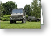Belgian Army Greeting Cards - Unimog Truck Of The Belgian Army Greeting Card by Luc De Jaeger
