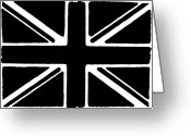 National Mixed Media Greeting Cards - Union Flag Greeting Card by Christopher Rowlands