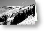 "\""colorado Resort\\\"" Greeting Cards - Union Peak at Copper Mountain Resort - Colorado Greeting Card by Brendan Reals"