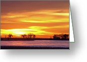 Colorado Photographers Greeting Cards - Union Reservoir Sunrise Feb 17 2011 Canvas Print Greeting Card by James Bo Insogna