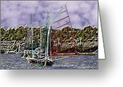 Lake Union Greeting Cards - Union Sail Greeting Card by Tim Allen