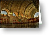 Washington D.c. Tapestries Textiles Greeting Cards - Union Station - DC Greeting Card by Frank Garciarubio