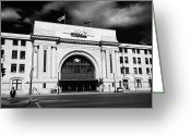 Wetmore Greeting Cards - Union Station Via Rail Canada Downtown Winnipeg Manitoba Canada Greeting Card by Joe Fox