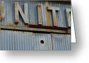 High Resolution Greeting Cards - UNITE Weathered Sign Greeting Card by Nikki Marie Smith