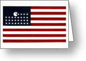 Stripes Greeting Cards - United State of the Man Greeting Card by Keith QbNyc