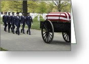 Carriage Team Greeting Cards - United States Air Force Honor Guard Greeting Card by Stocktrek Images