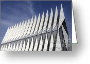Colorado Photographers Greeting Cards - United States Airforce Academy Chapel Colorado Greeting Card by Bob Christopher