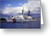 Coast Guard Greeting Cards - United States Coast Guard Cutter Rush Greeting Card by Michael Wood