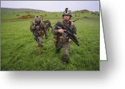 Transceiver Greeting Cards - United States Marines Training Greeting Card by Andrew Chittock