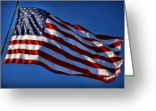 Pledge Of Allegiance Greeting Cards - United States Of America - USA Flag Greeting Card by Gordon Dean II