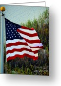Usa Flag Greeting Cards - United States of America Greeting Card by Gerlinde Keating - Keating Associates Inc