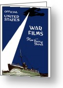 War Plane Greeting Cards - United States War Films Now Being Shown Greeting Card by War Is Hell Store