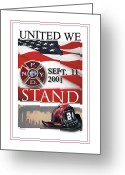United We Stand Greeting Cards - United We Stand 2001 - 2011 Greeting Card by Nick Diemel