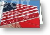 Graffiti Art For The Home Greeting Cards - United We Stand Greeting Card by Sgns Of The Times Colleciton