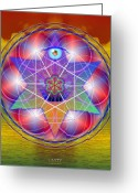 Sacred Digital Art Greeting Cards - Unity Greeting Card by Arie Van der Wijst