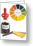 Indicator Greeting Cards - Universal Indicator Solution And Paper Greeting Card by Martyn F. Chillmaid