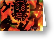 Sit-ins Greeting Cards - Universal Zulu Nation Greeting Card by Tony B Conscious