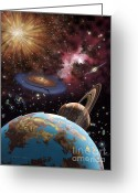 Lynette Cook Greeting Cards - Universe II Greeting Card by Lynette Cook