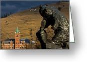 Oval Greeting Cards - University of Montana Icons Greeting Card by Katie LaSalle-Lowery