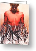 Featured Painting Greeting Cards - Unraveled Greeting Card by Denny Bond