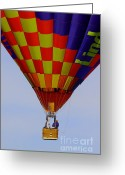 Balloon Greeting Cards - Untethered Greeting Card by Robert Frederick