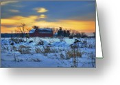Barn Mixed Media Greeting Cards - Until Spring Greeting Card by Robert Pearson