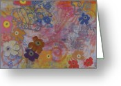 Abstract Collage Greeting Cards - Untitled 006 Greeting Card by Gloria  Von Sperling