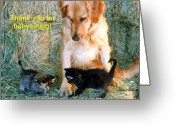 Babysitting Greeting Cards - Untitled babysitting Greeting Card by Angela Patterson