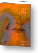 Gray Greeting Cards - Untitled Mixed Media No. 2 Greeting Card by Dave Gordon