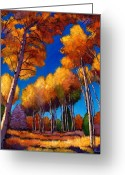 Yellows Greeting Cards - Up and Away Greeting Card by Johnathan Harris